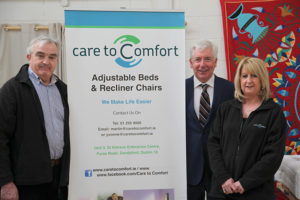 Martin and Yvonne with Minister Alex White (centre) at our Electric adjustable beds showroom in Sandyford