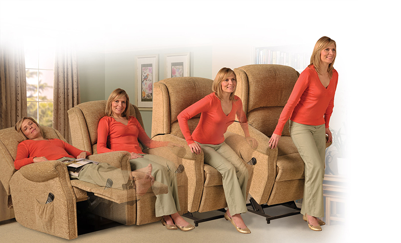 Recliner with Dual Motor Lift/Tilt action