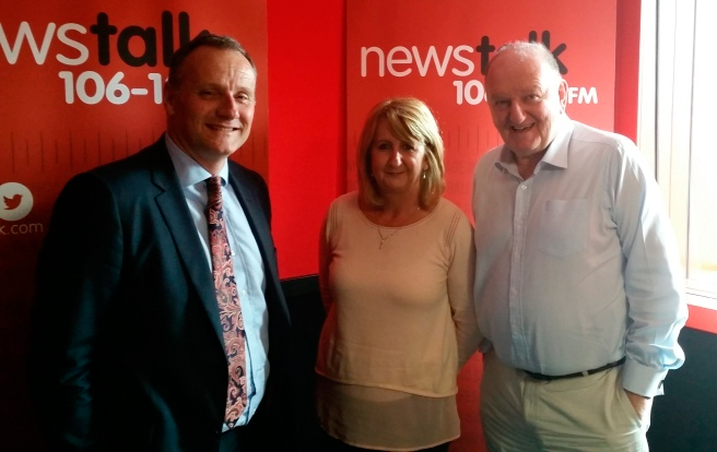 Yvonne with Gerard Tannam and George Hook