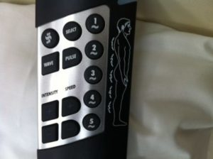 Remote control for 5 point massage